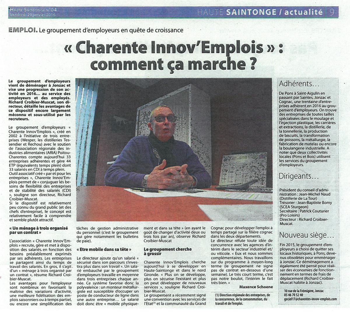 Charentes-Innov-Emplois-HAUTE-SAINTONGE-ARTICLE-GROUPEMENT